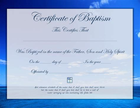 Free Editable Baptism Certificate Template by Baptism Certificate Template Free Speedy Template