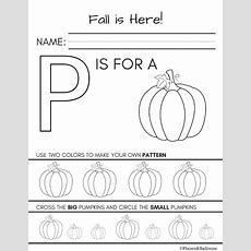 Fall Worksheets Kindergarten Printable For Free No Signup Required