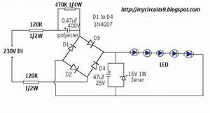 230v Ac Led Driver Circuit Without Transformer