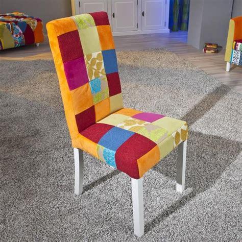 chaise multicolore 2 chaises de cuisine salle à manger design en bois massif