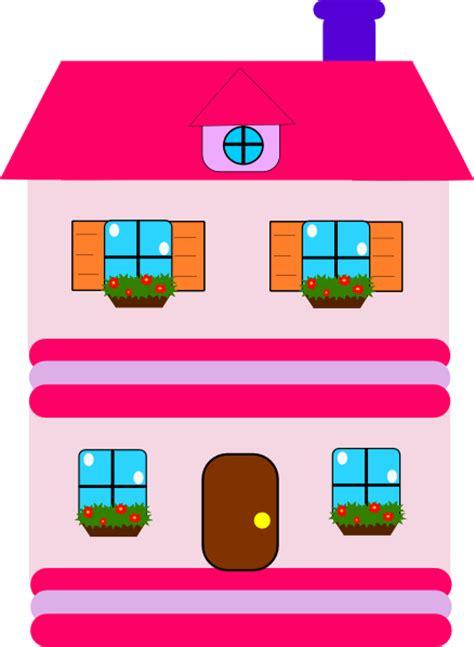 pink doll house clip art  clkercom vector clip art