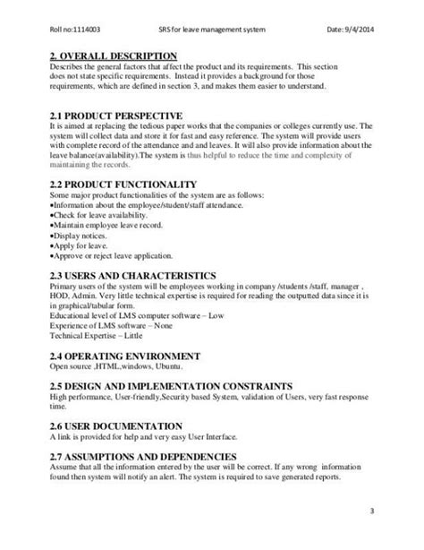 Software Requirements Document Template | Software
