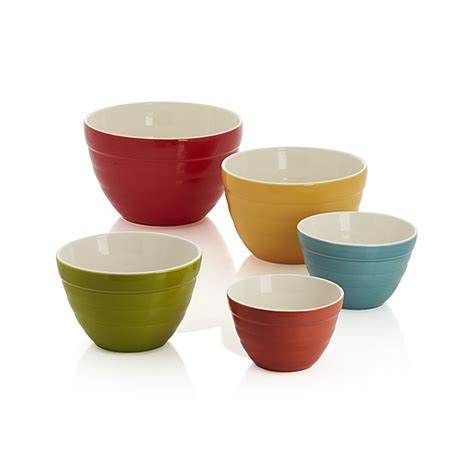 kitchen table size set of 5 baker nesting bowls crate and barrel