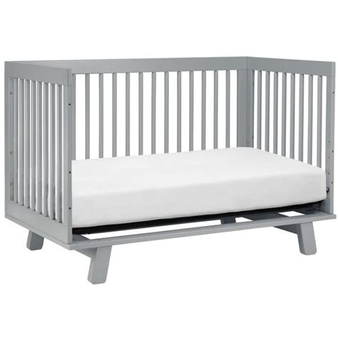 babyletto hudson 3 in 1 convertible crib with toddler rail babyletto hudson 3 in 1 convertible crib grey