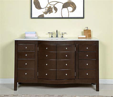 60 inch vanity cabinet single sink 60 inch single sink bathroom vanity in dark walnut