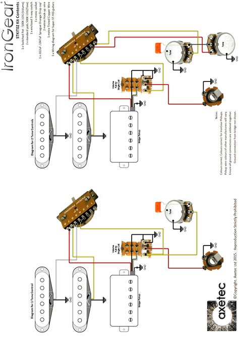 Guitar Wiring Kits Axetec For Strat