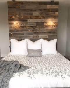 Reclaimed Wood Wall Headboard
