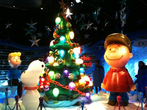 charlie brown christmas ice sculpture photograph