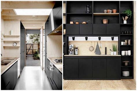 cuisine noir et bois comment intégrer la couleur noir dans votre déco intérieure
