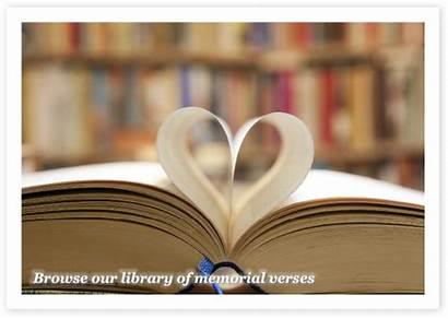 Memorial Verses Verse Library Prayer Card Loved