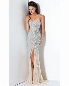 silver sequin evening gown by jovani 4247 00011031 With silver sequin wedding dress