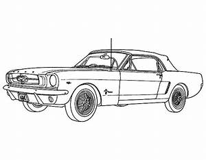 1965 Mustang Coloring Pages Sketch Coloring Page