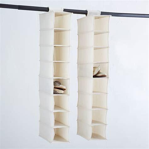 canvas hanging shoe organizer west elm