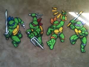 Teenage Mutant Ninja Turtle Perler Bead