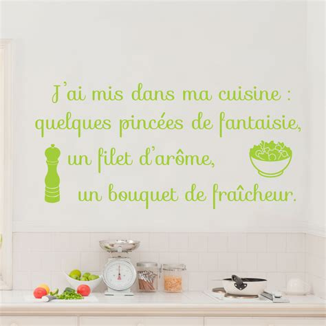 stickers citation cuisine sticker citation j 39 ai mis dans ma cuisine stickers