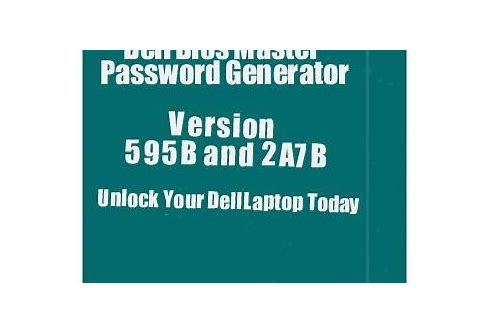 dell 595b (bios master key generator) - djb3000.rar download