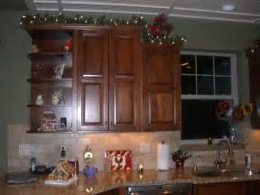 decorating top of kitchen cabinets for christmas best home decoration world class
