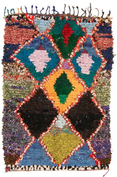 moroccan boucherouite rug moroccan berber rug boucherouite 235 x 160 cm