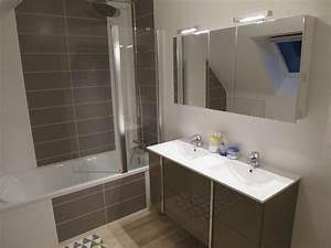 Renover Faience Salle De Bain : r novation salle de bain dans les tons chaleureux rennes ~ Premium-room.com Idées de Décoration