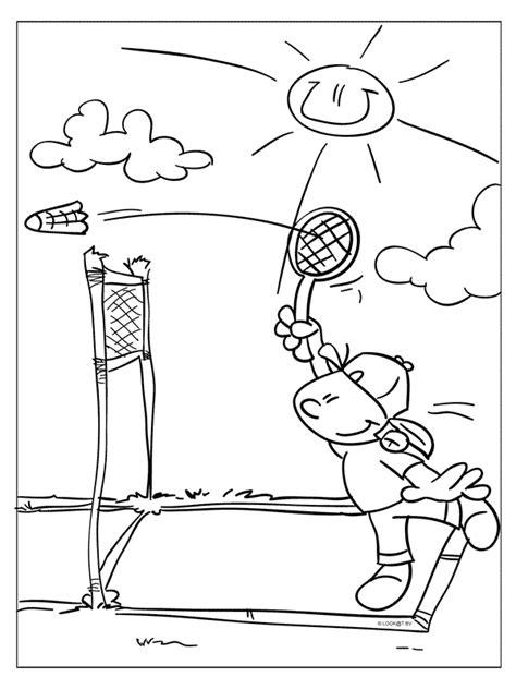 Kleurplaat Badminton by Kleurplaat Badminton Kleurplaten Nl