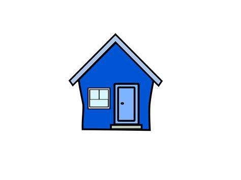 Blaues Haus Clipart