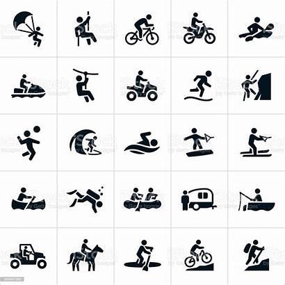 Recreation Outdoor Icons Vector Summer Activities Illustration