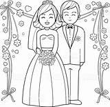 Bride Coloring Groom Pages Printable Getcolorings Getdrawings sketch template