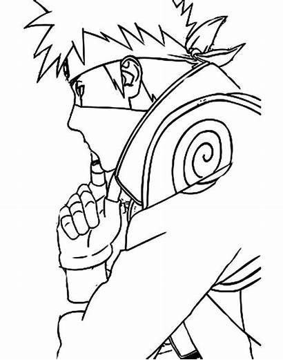 Naruto Kakashi Gambar Mewarnai Hatake Coloring Sasuke
