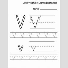 Free Printable Letter V Worksheets For Kindergarten & Preschool