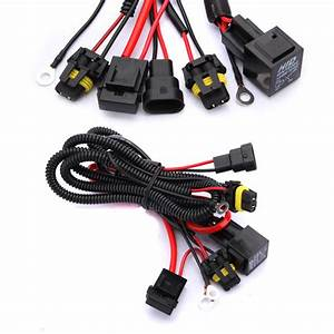 Xenon Hid Conversion Kit Relay Wiring Harness H1 H8 H9 H11 9005 9006