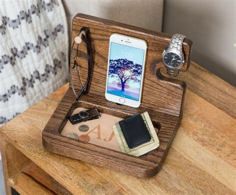 Nightstand Organizer Student Gift Personalized Mens Gifts