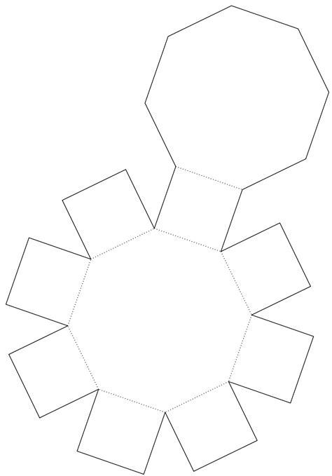 pentagonal prism net octagonal prism  real life molde caixa artesanato em papel molde