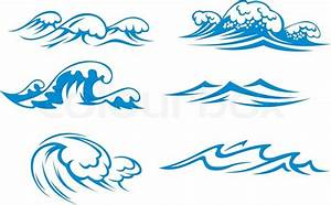 Ocean and sea waves | Stock Vector | Colourbox