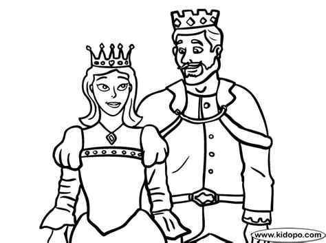 King Queen Coloring Page