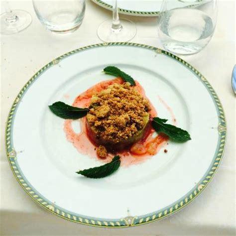 compote de rhubarbe strudel et coulis de fraises foto restaurant du port dieppe