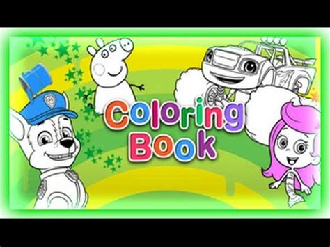 nick jr coloring book games youtube