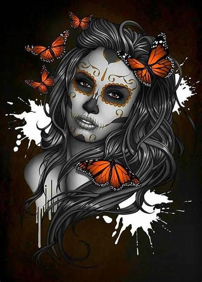 Skull Sugar Artwork Drawing Tattoo Sugarskull Dead