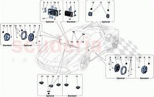 Ferrari 488 Spider Audio Speaker System Parts