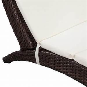 Coussin De Chaise Pas Cher : chaise longue pliable avec coussin en poly rotin marron ~ Dailycaller-alerts.com Idées de Décoration