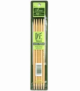 Clover Bamboo Double Point Knitting Needles 7'' - Size 10 ...