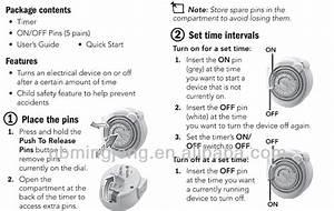 220v Manual Weekly Mini Mechanical Timer