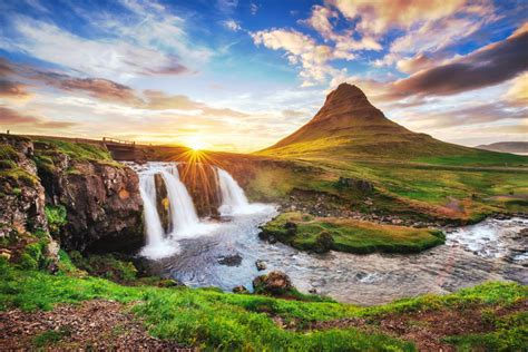Kirkjufell Mountain Iceland Jigsaw Puzzle In Waterfalls