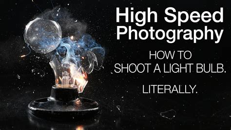 shoot  light bulb explode high speed photography