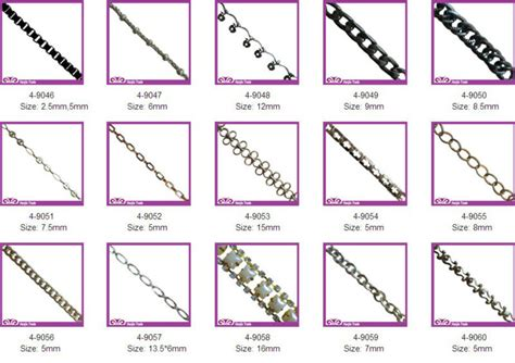 Wholesale Fashion Different Style Of Chain For Jewelry