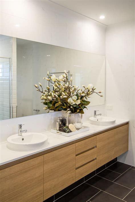 bathroom vanity timber laminex vanity double basin