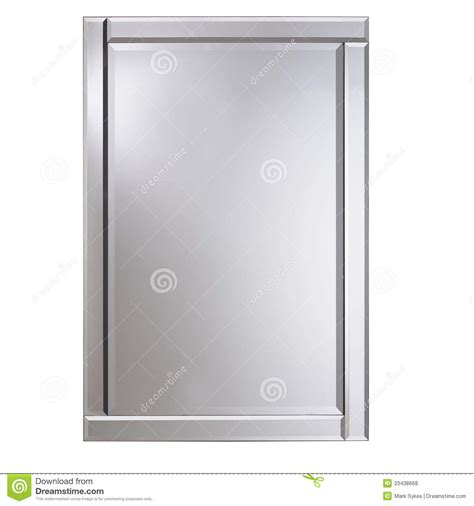 miroir en verre de cadre argent 233 photos libres de droits image 33438668
