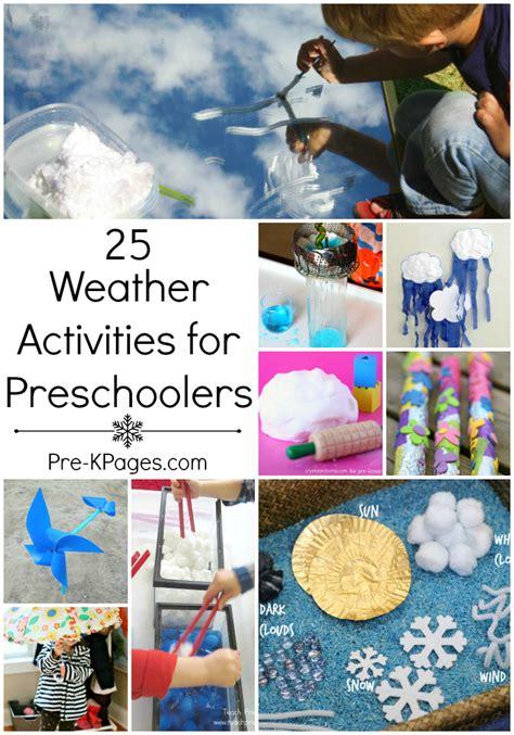 weather activities  preschool