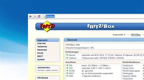 fritzbox im browser die benutzeroberfl 228 che der fritzbox k 246 nnen sie mit einem beliebigen browser aufrufen 1