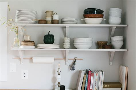 Kitchen Open Shelves Images by How To Style Open Kitchen Shelves For Autumn A Daily