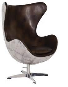 fauteuil aviateur coquille d oeuf en cuir et m 233 tal